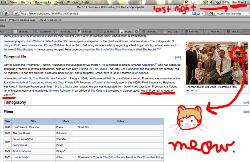 Day 62: Wikipedia = Truth (A Fangirl Graphic) (1/3)
